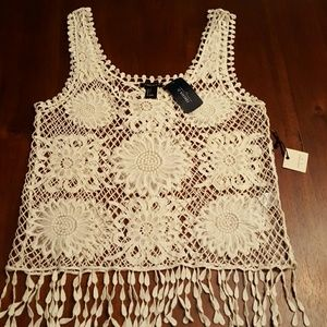 New Forever 21 size small crochet top